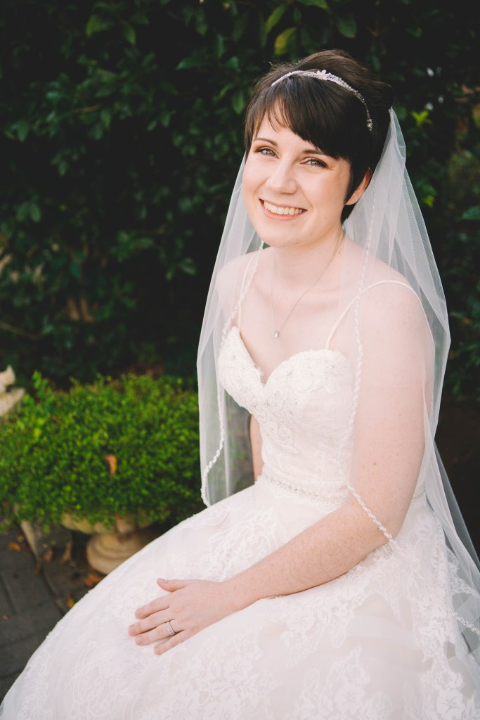 Bride Smiling at camera.